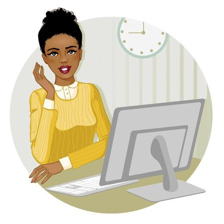 traditional data entry jobs women at computer